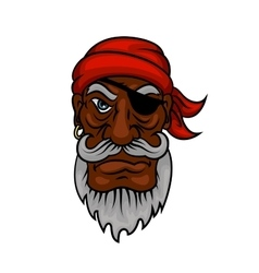 Old cartoon pirate with eye patch vector image