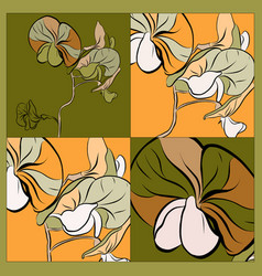 orchid pattern can use be for shawl decor vector image