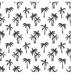 palm trees black seamless pattern vector image