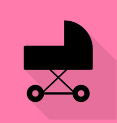 pram sign black icon with flat style vector image