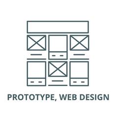 prototype web design line icon linear vector image