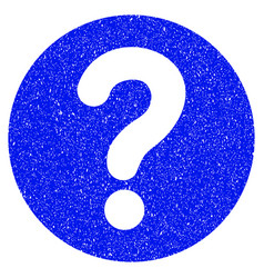 Query grunge icon vector