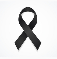 realistic detailed 3d black mourning symbol vector image