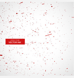 Red ink or blood splatter splashes texture vector