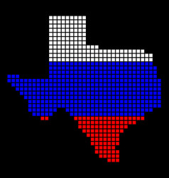 russia colors dot texas map vector image