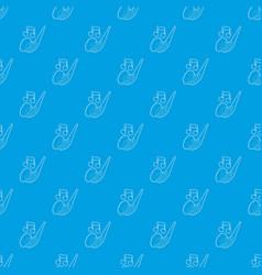 saxophone pattern seamless blue vector image