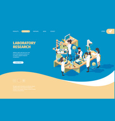 science person landing page doctors laboratory vector image