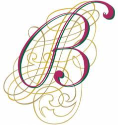 script letter b vector image