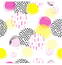 Seamless texture with circle bubbles vector