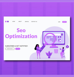 seo optimization landing page vector image