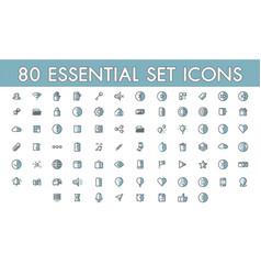 Set comunication simple 80 essential icon vector