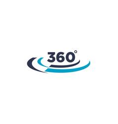 simple 360 degree logo design vector image