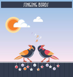 Singing birds vector
