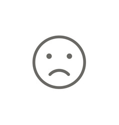 smile face icon sad vector image