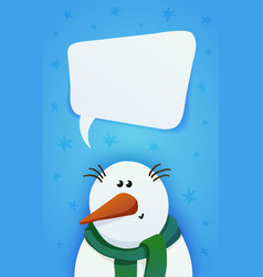 snowman with a green scarf vector image