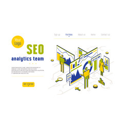 Stock seo analytics team vector