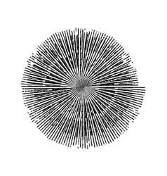 stroke spiral stamp vector image