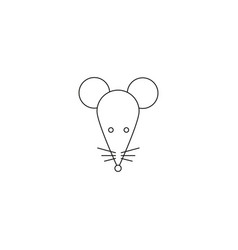 stylish icon of a white mouse for web and print vector image