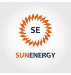 Sun energy logo energy efficiency eco vector