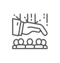 team people under leadership line icon vector image