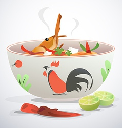 tom yum kung vector image