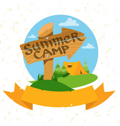tourism logo hiking climbing traveling color vector image