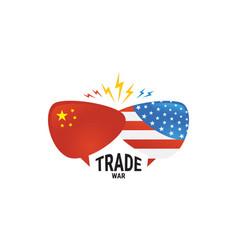 Trade war america china tariff business global vector