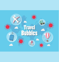Travel bubles concept vector