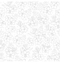Tropical repeat pattern with orchid hibiscus and vector