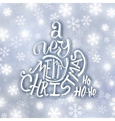 Very Merry Christmas typography Greeting card vector