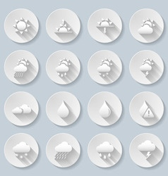Weather icon set vector image
