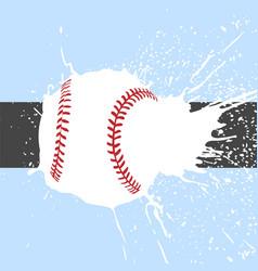 bright baseball background vector image vector image