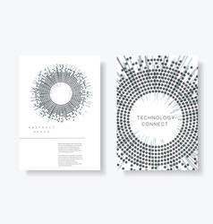 brochure cover design templates vector image