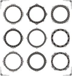 Classic circular frame vector