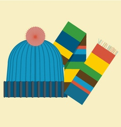 hat and scarf vector image