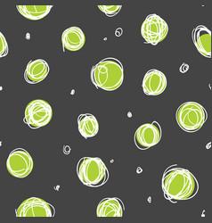 sloppy circles random doodle dots seamless pattern vector image