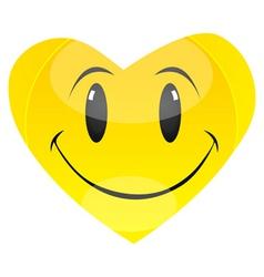 smiley heart vector image vector image