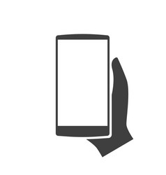template smartphone in hand modern icon vector image vector image