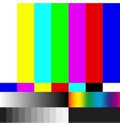 Test TV screen EPS 10 vector image