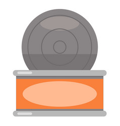 tin icon flat style vector image