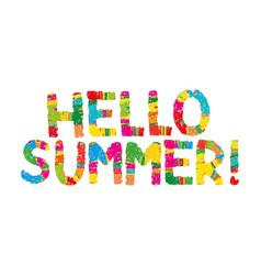 hello summer color rainbow abstract vector image