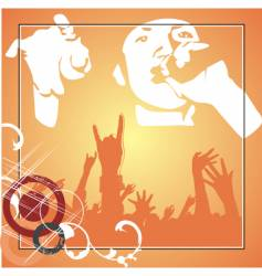 hip hop poster vector image vector image