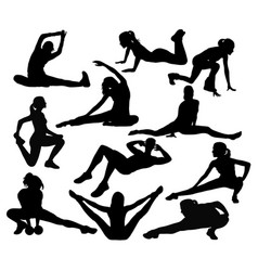 stretching sport vector image vector image