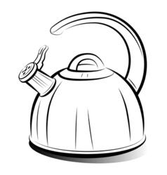 teapot kettle vector image