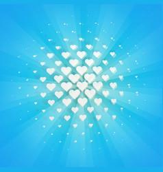 White hearts halftone design element retro style vector