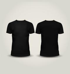 Black men t-shirt isolated vector