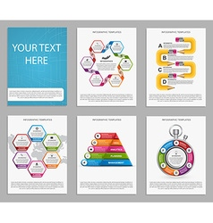 Collection of colorful infographics Design vector image vector image