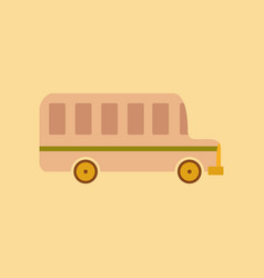 Flat icon on stylish background school bus vector