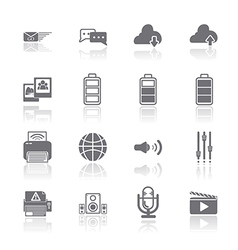 PC Mobile Interface Icon EPS10 vector image vector image