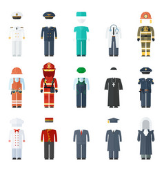 uniform man set vector image vector image